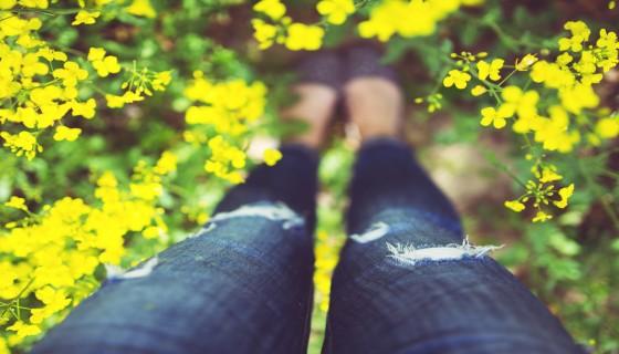 רגליים פרחים