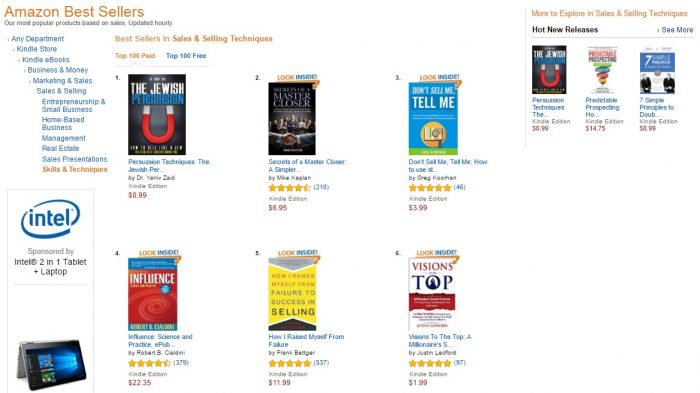 No. 1 Amazon - Sales and selling techniques