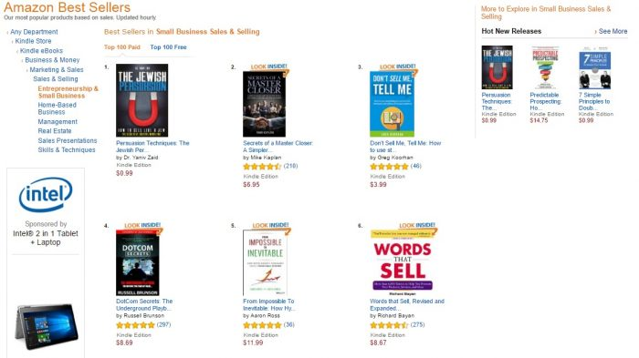 No. 1 Amazon - small business sales and selling