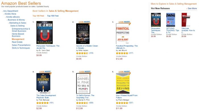 No. 1 amazon - sales and selling management